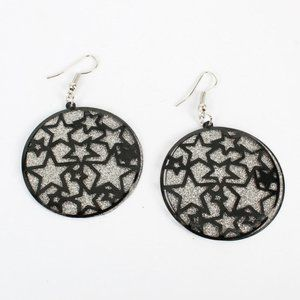 Stars double layer frosted earrings